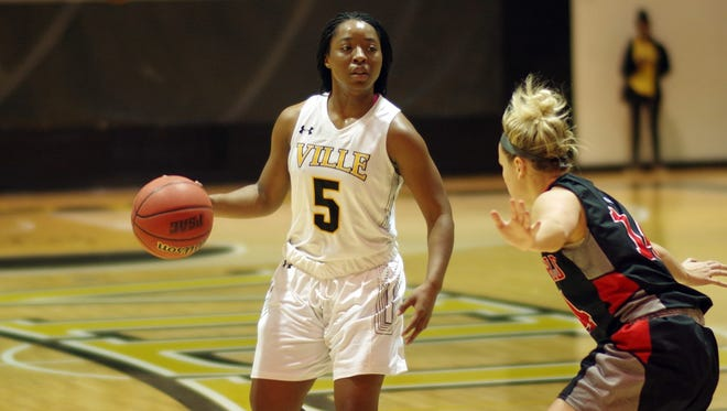 Dover High School graduate Alayah Hall recently passed the 1,000-point career milestone at Millersville University.