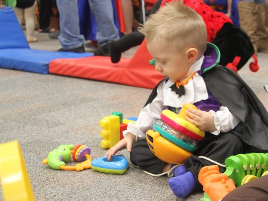 Toddlers and young children participated in a costume contest at the Carlsbad Public Library on Wednesday.