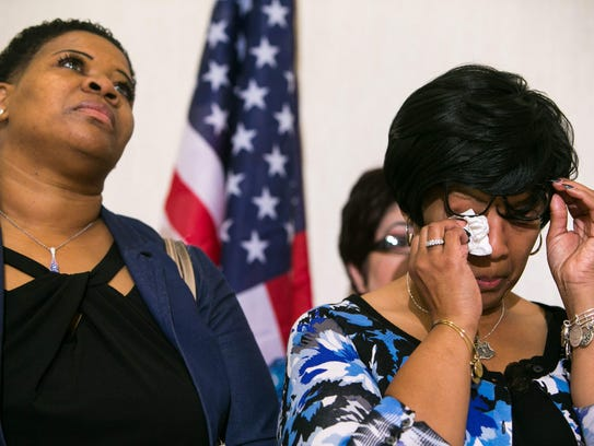 Saundra Floyd, the widow of slain Lt. Steven Floyd