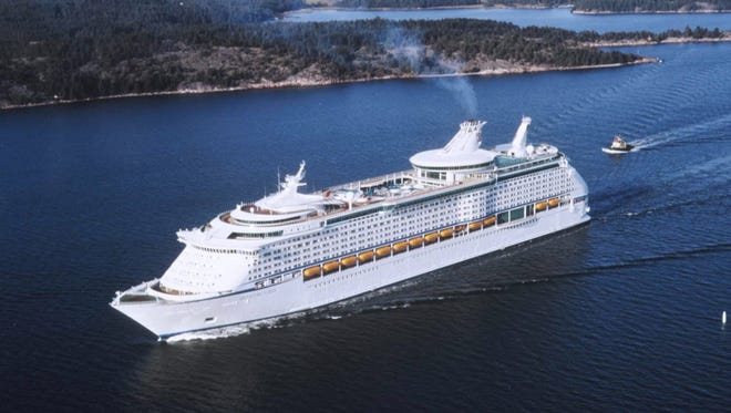 20. Voyager of the Seas, built by Royal Caribbean International in 1999, weighs 137,276 GT and carries 3,114 passengers at double occupancy.