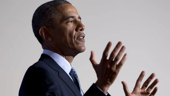 President Obama discusses data privacy in January.
