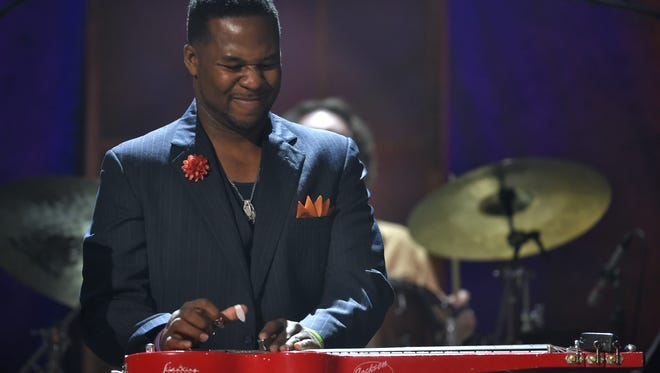 Former Morristown resident Robert Randolph, shown in 2015, has jammed with Carlos Santana and Elton John. Robert Randolph performs during the Americana Music Honors & Awards at the Ryman Auditorium in 2015.