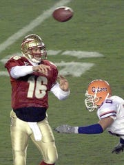 Chris Weinke holds FSU records for career passing yards, passing yards in a season and touchdown passes.