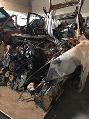 Abraham Requena's car from the crash.