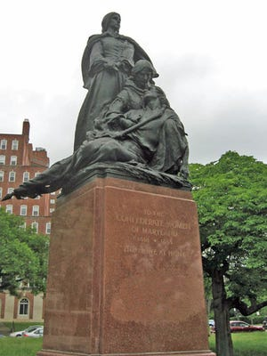 Confederate Women's Monument, which stood at Bishop Square Park at University Parkway and Charles Street.