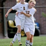 Maddie Pogarch (2) had a goal and two assists in Hartland's 3-0 home win over Okemos on Tuesday.