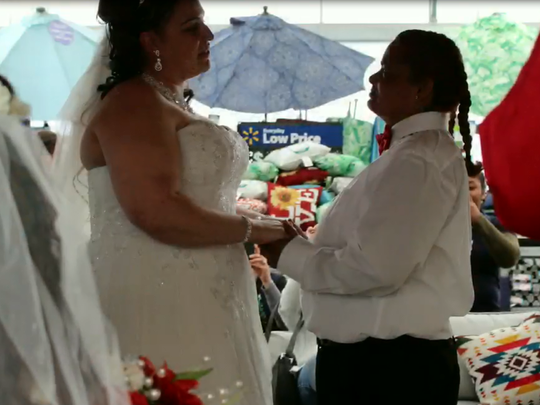 """It was beautiful. I just loved it,"" Leida Torres, right, said of her wedding"