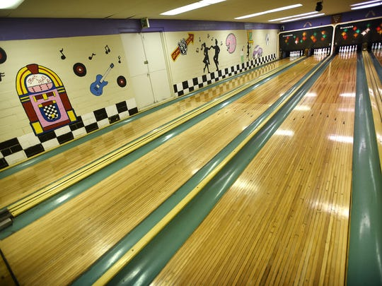 The Fredericksburg Bowling Center at 103 E. Main St., Fredericksburg, has four lanes and a 1950s theme.