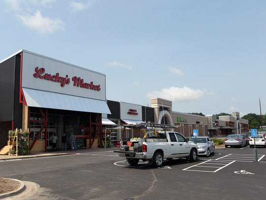 Lucky's Market is seen at the Iowa City Marketplace, formerly known as the Sycamore Mall, earlier this month.