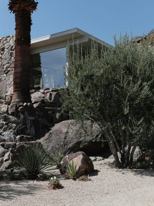 The On the Rocks house in Palm Springs is often used for photo and movie shoots, July 13, 2018.