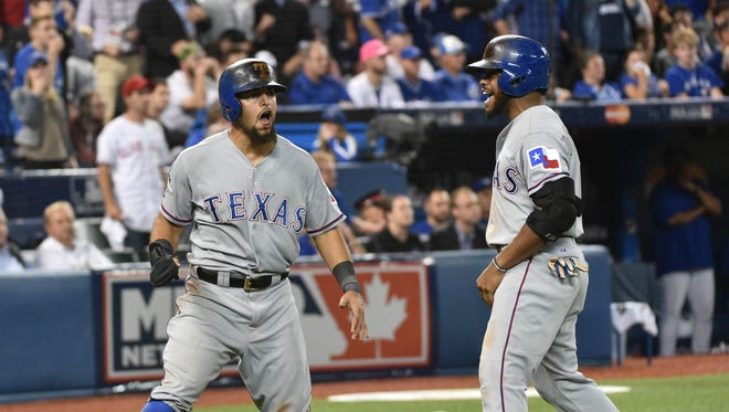 Rougned Odor is batting .286 in the first to games of the ALDS.