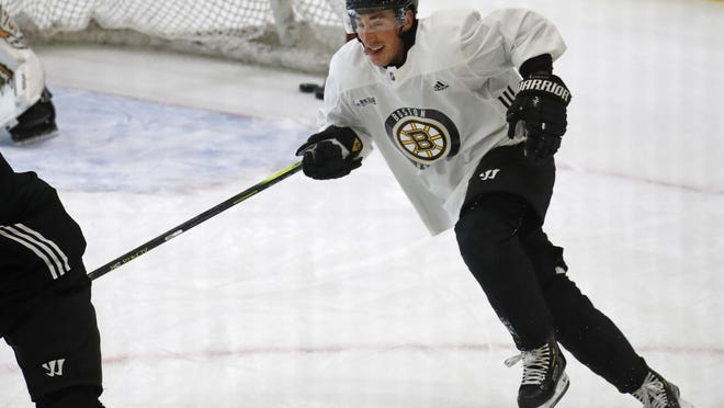 Boston's Brad Marchand isn't worried about reconnecting with missing linemates, he's more concerned with knocking the rust off his own game as the NHL gears toward return.