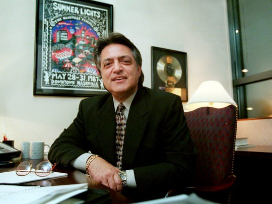Joe Moscheo, a former member of the gospel group The Imperials, here in his office July 8, 1996, was hired to head First Union Bank's new entertainment/music division.