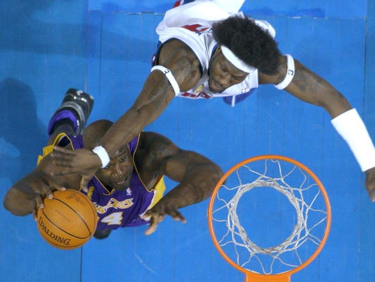 Pistons center Ben Wallace wanted to go head-to-head