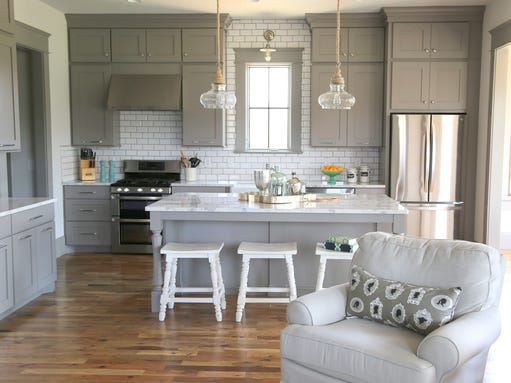2. Painted cabinetry.