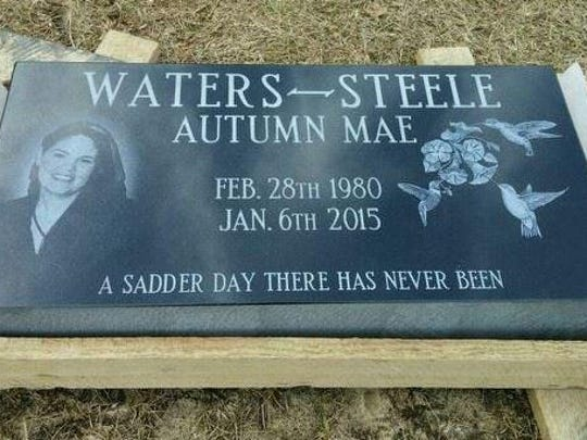 Autumn Steele's gravestone