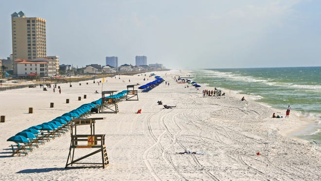 Flags have gone up at Pensacola Beach, Fla., warning of sea lice.