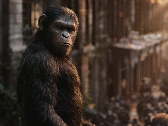Andy Serkis as Caesar in 'Dawn of the Planet of the