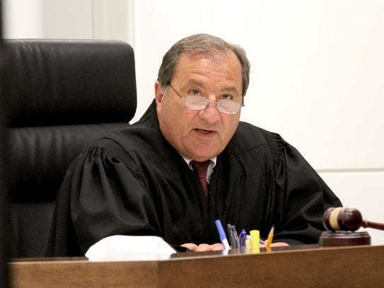 Superior Court Judge Vincent Falcetano presides over