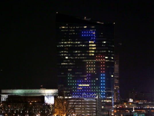 AP Giant Tetris Game