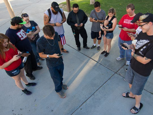 The Southwest Pokémon Go Club hosts nightly outings for players of the mobile game. Saturday, the group was at New Mexico State University.