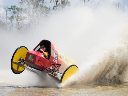 Pro-Modified racer Bobby Williams swamp buggy right