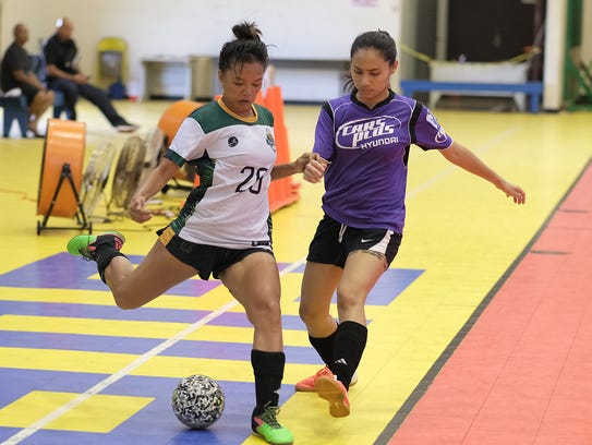 The University of Guam Women's Soccer Team lost 7-4