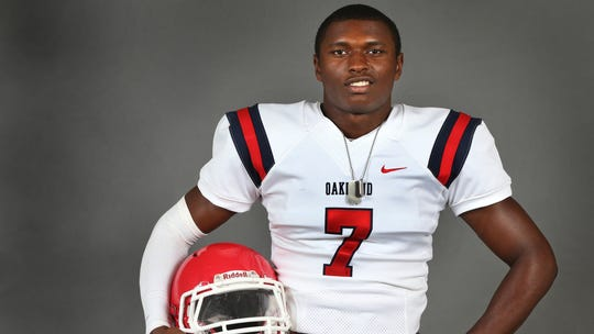 Oakland's JaCoby Stevens (7) has updated his top-seven