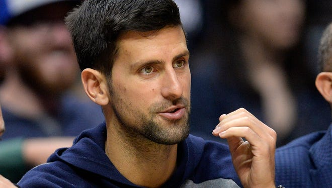 Novak Djokovic has been dealing with pain in his right elbow.