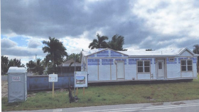 A modular home in Cape Coral has drawn some residents' ire.