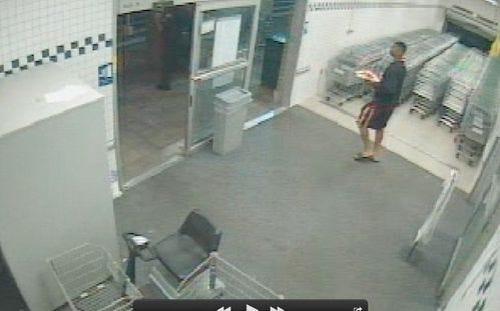 Surveillance video of Jameis Winston at Publix