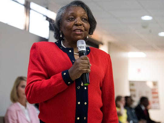 District Three candidate Brenda DeRamus-Coleman speaks