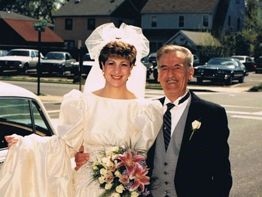 Lisa Romeo, of Cedar Grove, and her father Anthony