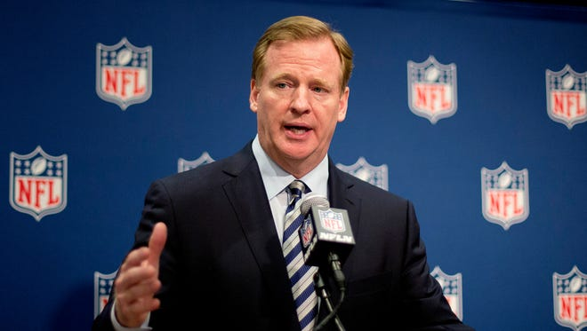 NFL Commissioner Roger Goodell speaks at a press conference at the NFL's spring meeting, Tuesday, May 20, 2014, in Atlanta.