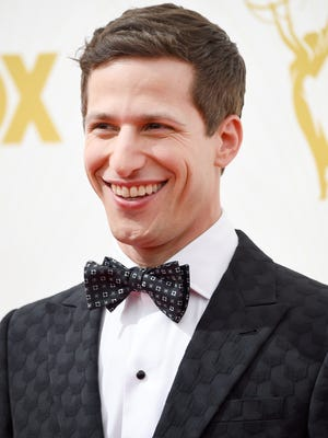 Host Andy Samberg attends the 67th Annual Primetime Emmy Awards at Microsoft Theater on Sept. 20, 2015 in Los Angeles.