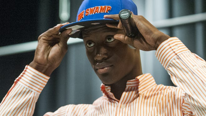 Carver High School's Antonio Nelson announced Wednesday that he is signing with Florida during a ceremony at the Carver campus in Montgomery, Ala. on Wednesday February 3, 2016.
