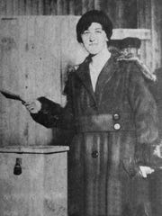Florence Chanucey was the first woman to vote in New