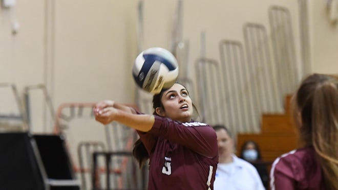 Bastrop's Kaitlyn Parsons (3) makes a play on the ball during the Bears' recent match with Elgin.