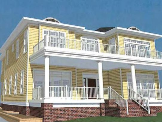 The Sapienza home is shown in this artist rendering,