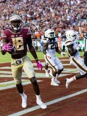 Florida State junior wide receiver Auden Tate tallied