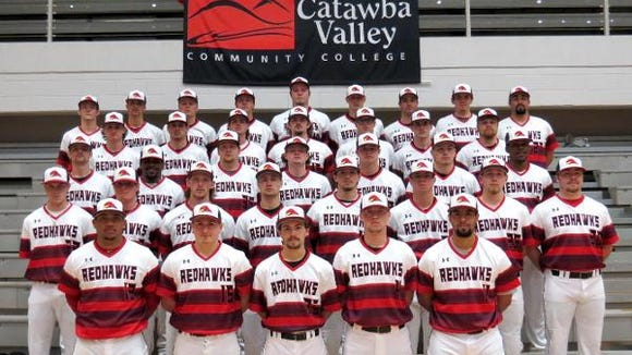 The 2015 Catawba Valley Community College baseball team.