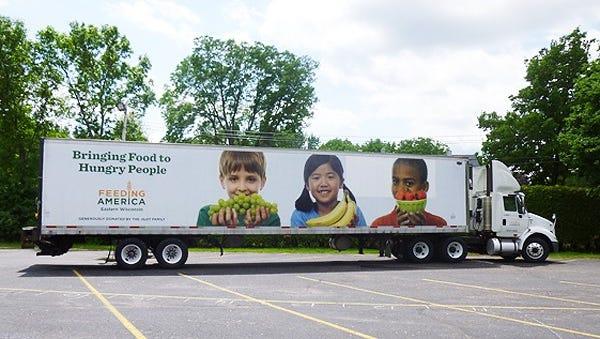 Feeding America mobile food pantry truck