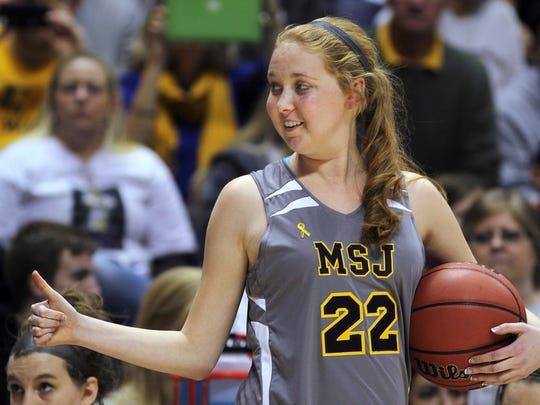 On Nov. 2, 2014, Lauren Hill of Mount St. Joseph played her first NCAA college basketball game against Hiram University at Xavier University in Cincinnati.