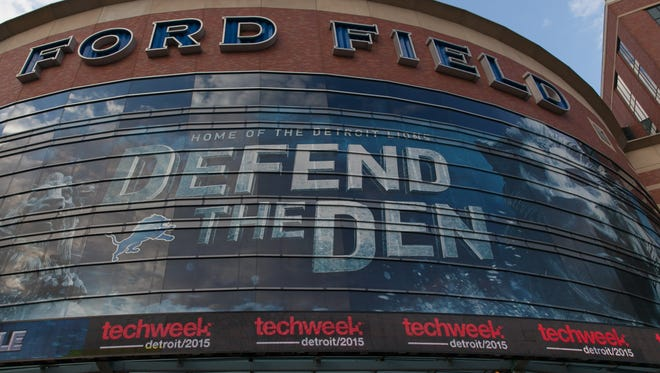Ford Field, on April 17, 2015, in downtown Detroit.