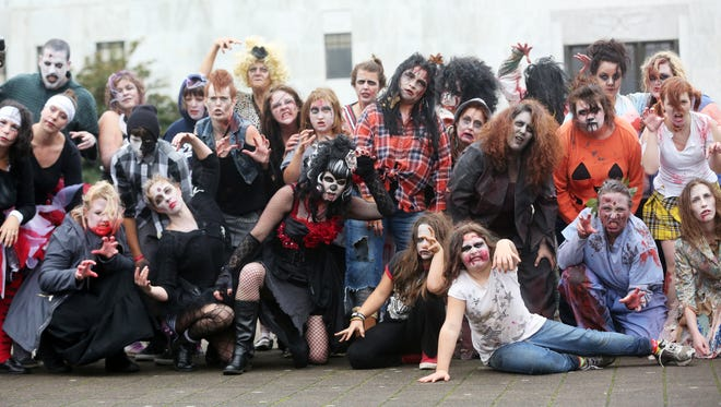 """Thrill the World is an international simultaneous """"Thriller"""" dance. The annual event takes place on Oct. 24 this year."""