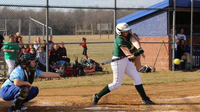 Indian River sophomore Olivia Ruberti takes a swing during a scrimmage against Sussex Central in Georgetown on Tuesday.