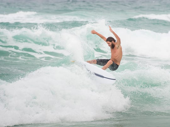 Sterling Spencer takes advantage of the steady waves