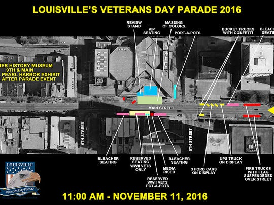 Louisville's Veterans Day Parade is set for Nov. 11
