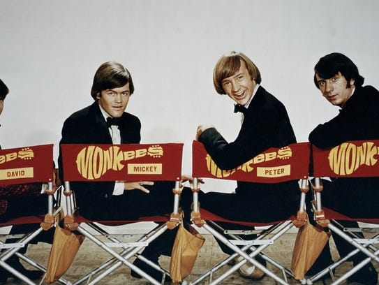Micky Dolenz (second from left) with Monkee-mates Davy