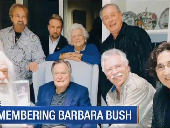 Former President George H.W. Bush and former First
